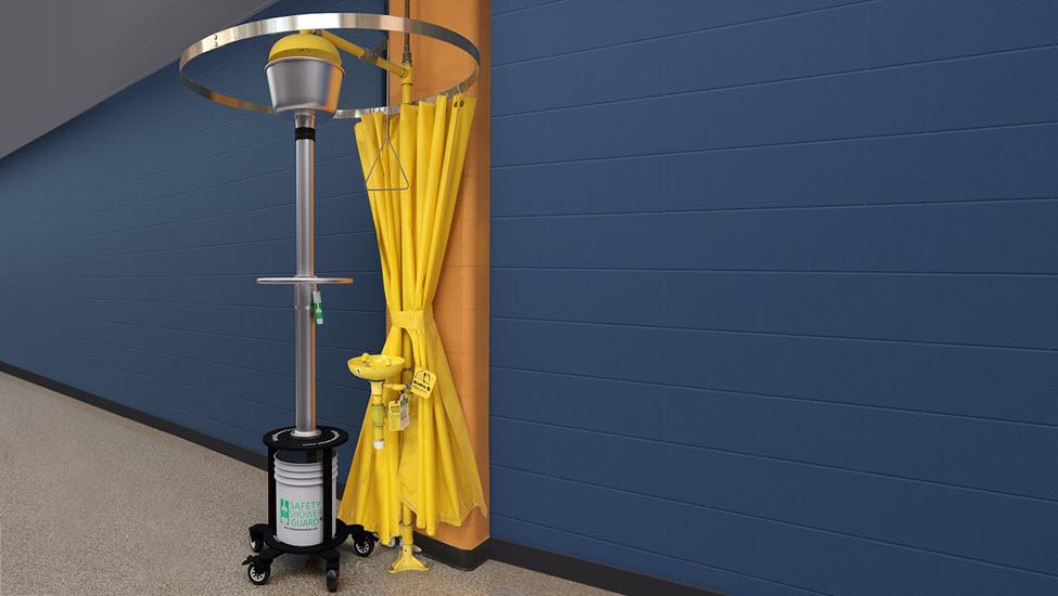 safety shower tester safety shower guard shower hallway